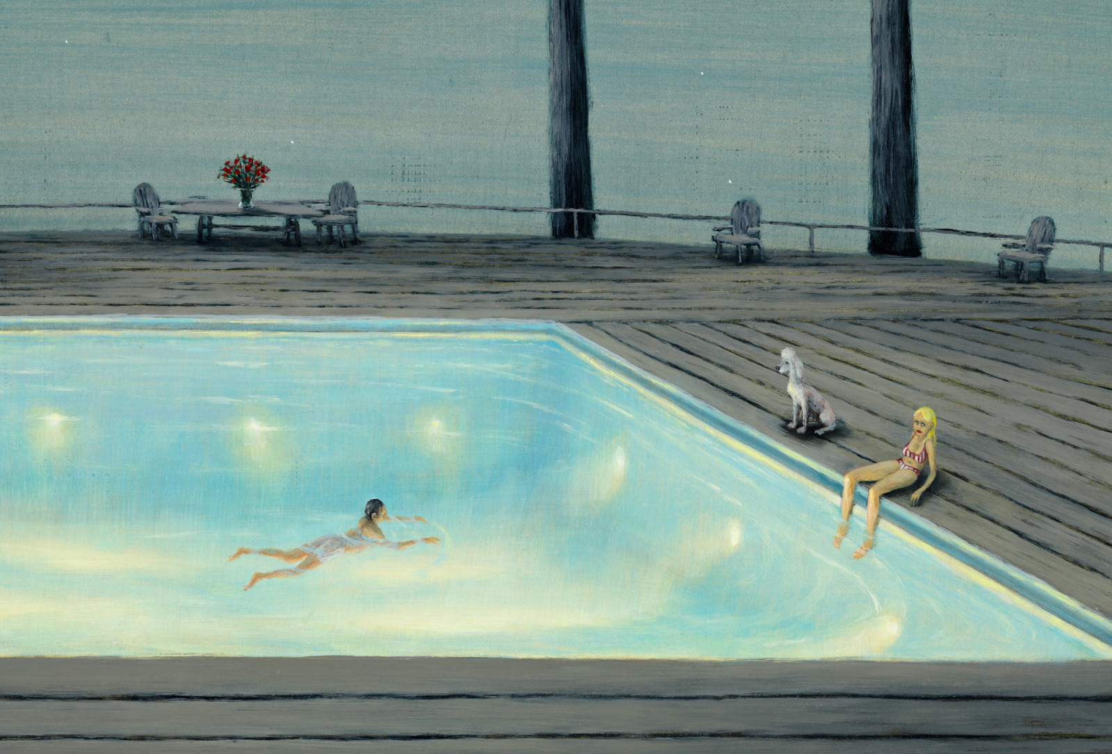 Swimming Pool Painting Art